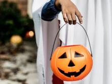 Halloween costume and scene