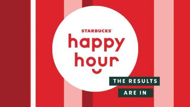 Starbucks Happy Hour (photo courtesy Starbucks)