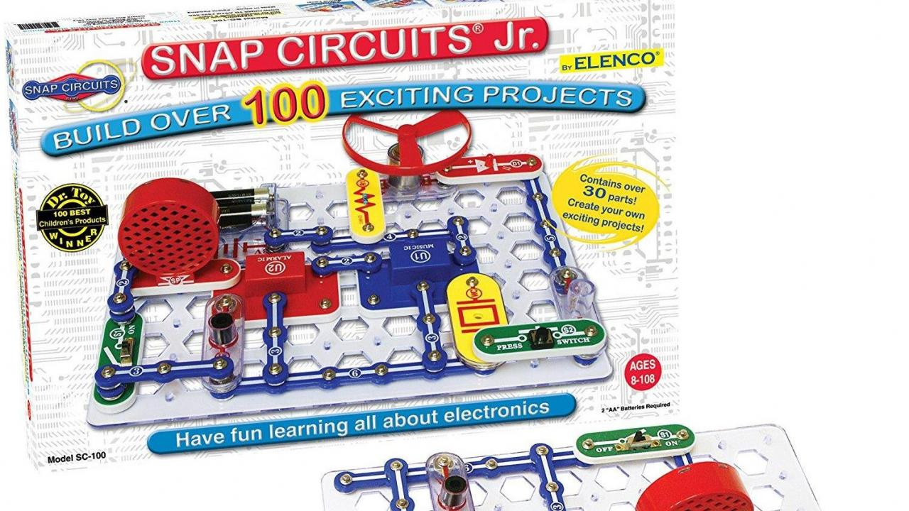 Snap Circuits Jr Sc 100 Electronics Discovery Kit Only 2099 Electronic Circuit Kits For Schools