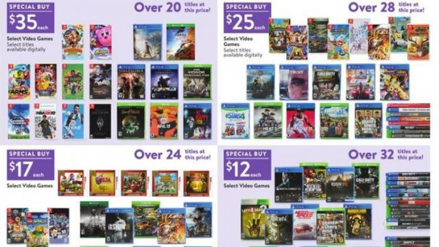 Video Games Only 17 To 25 With Walmart Black Friday Sale Today Wral Com