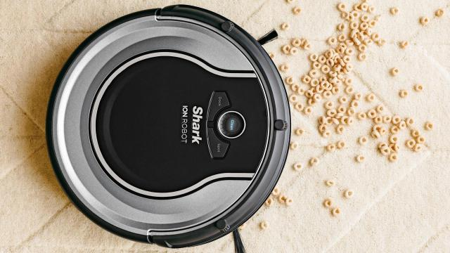 Shark ION RV700 Robot Vacuum with Easy Scheduling Remote (photo courtesy Walmart)