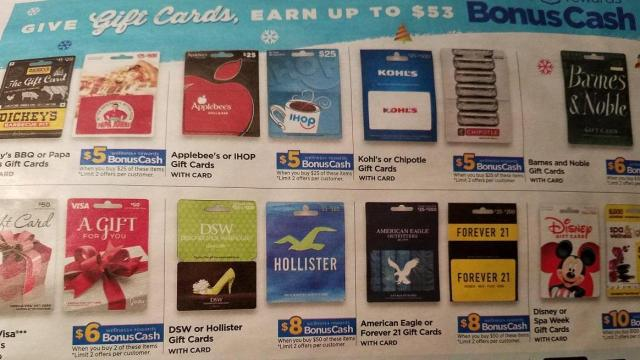 Gift Card Offers From Drug Stores Grocery Stores More This Week