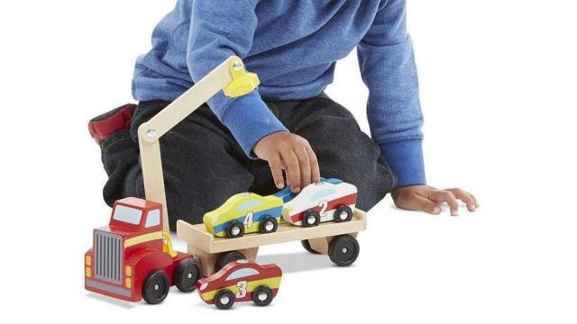 cb9898a04164 Melissa   Doug Magnetic Car Loader Wooden Toy Set (photo courtesy Amazon)