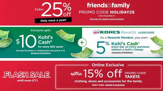 513207ce59c Kohl s Flash Sale extended until 1 AM! Extra 15% off clothes   shoes ...