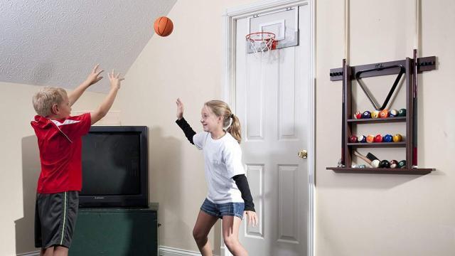 Spalding NBA Slam Jam Over-The-Door Mini Basketball Hoop (photo courtesy  Amazon b38f7e325a