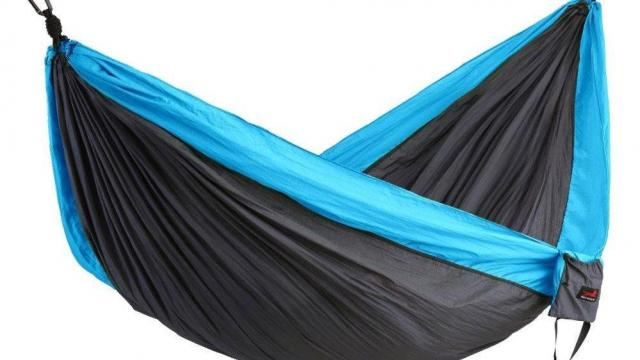 Honest Outfitters Portable Parachute Nylon Camping Hammocks (photo courtesy Amazon)