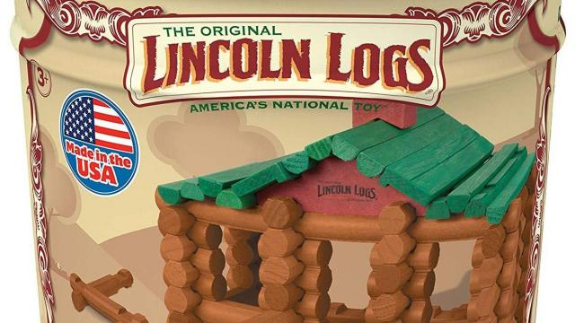 Lincoln Logs Anniversary Tin with 111 All Wood Pieces (photo courtesy Amazon)