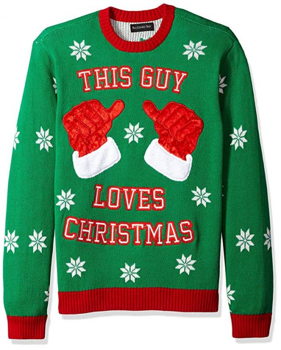 Blizzard Bay Mens This Guy Loves Xmas Ugly Christmas Sweater