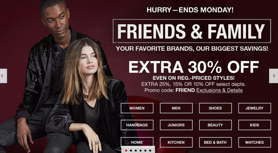Macy's: 30% off Friends & Family coupon through Monday