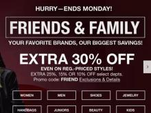 Macy s Sale. Macy s  30% off Friends   Family coupon through Monday a1825d033f269