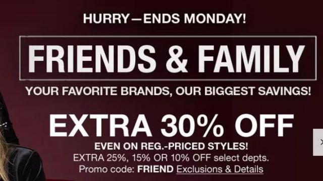 photograph about Calvin Klein Printable Coupon named Macys: 30% off Close friends Household coupon for the duration of Monday