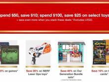 Coupon et vente de jouet cible