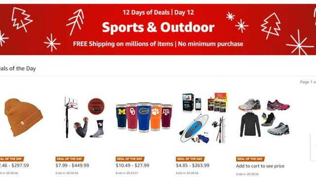 4cd406ac3d58 Amazon 12 Days of Deals Day 12  Sports   Outdoor Deals    WRAL.com