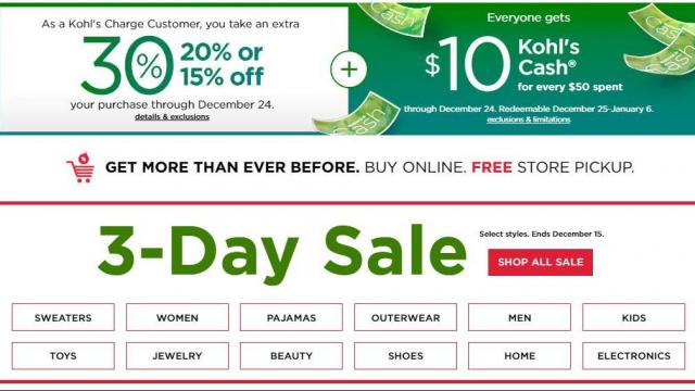 f8018a047 Kohl's Sale, 30% off coupon, $10 jewelry coupon, $10 Kohl's Cash ...
