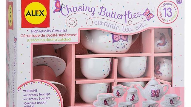 ALEX Toys Chasing Butterflies Ceramic Tea Set (photo courtey Amazon)