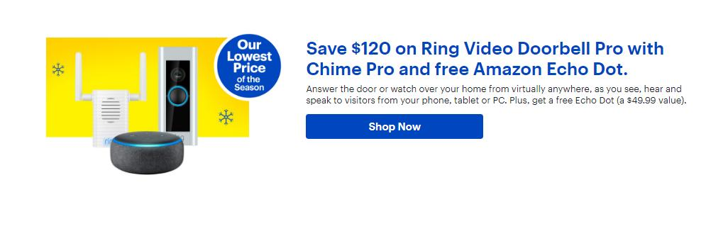 Ring - Video Doorbell Pro and Chime Pro Bundle (photo courtesy Best Buy)