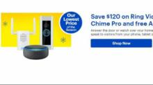 IMAGE: Ring Video Doorbell Pro & Chime Pro Bundle with FREE Echo Dot only $179.99 at Best Buy
