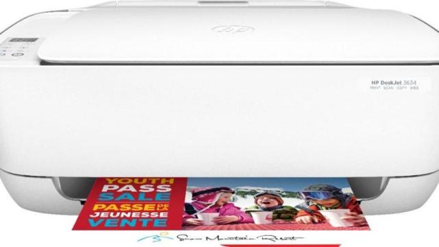 HP - DeskJet 3634 Wireless All-In-One Printer (photo courtesy Best Buy)