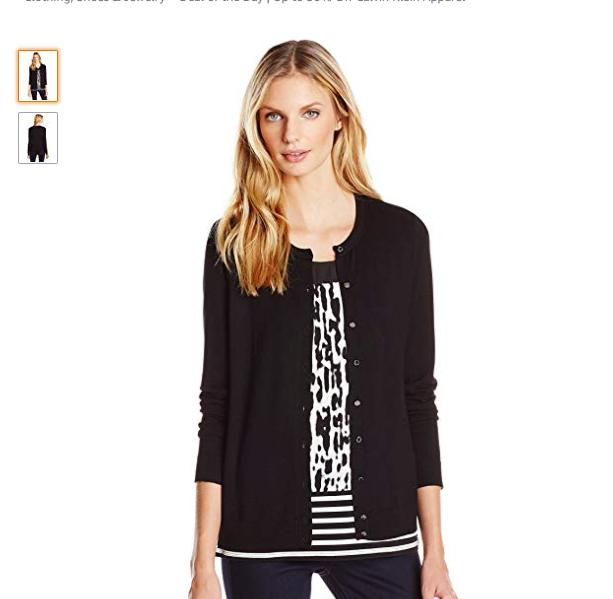 70e6c4ddd979 Calvin Klein Women s Solid Button-Front Cardigan (photo courtesy Amazon).  ×. 1   7