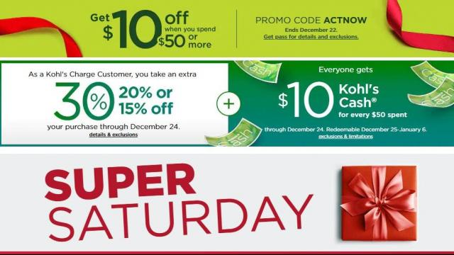 29790ef20fbf New  10 off  50 Kohl s coupon Saturday + 30% off coupon +  10 Kohl s ...