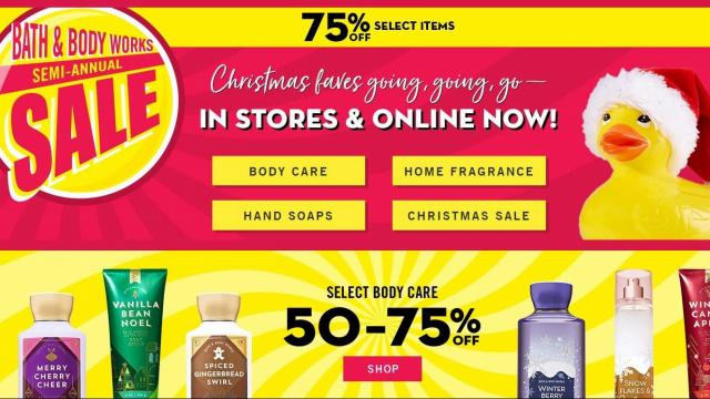 graphic regarding Scene 75 Printable Coupons referred to as Tub Physique Operates: Fresh $10 off $40 coupon + 75% off Semi
