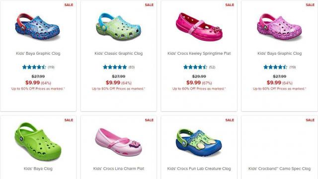 083ae909d536 Crocs Shoes  Clearance sale with shoes as low as  6.99 through TODAY ...