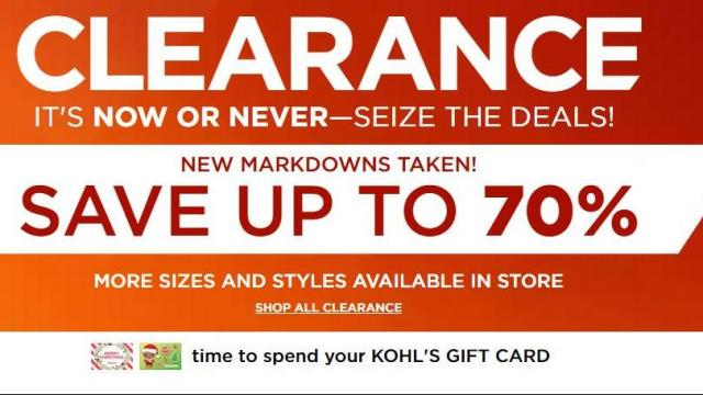 kohl s 70 off clearance sale 20 off home coupon through today