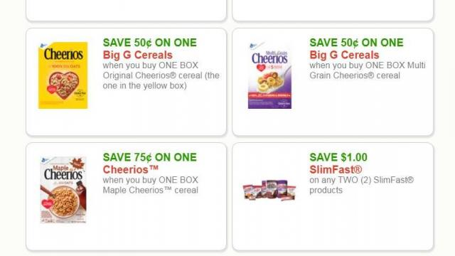image about Miralax Printable Coupons titled More than 70 fresh printable coupon codes: Cereal, yogurt, granola bars