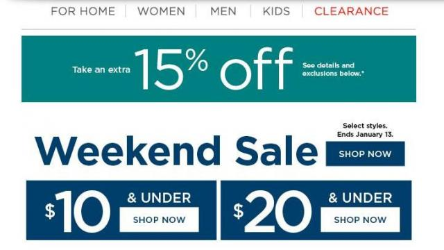 a005cba1e Kohl's: New 15% off coupon through TODAY & 70% off clearance :: WRAL.com