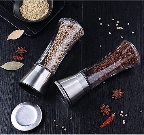 Stainless Steel Salt and Pepper Mill Grinder Set only $10 ...