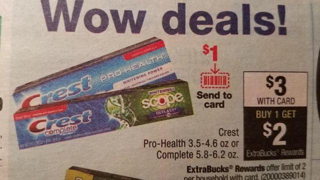 FREE Crest toothpaste at CVS :: WRAL com