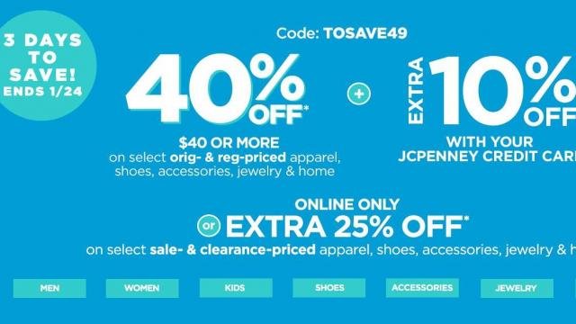 44e4592ef3e44 JCPenney coupons  40% off reg. price purchase or 25% off sale ...