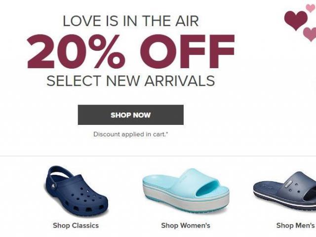 f8f44501df5c7 Crocs Shoes  20% off new arrivals through Monday    WRAL.com