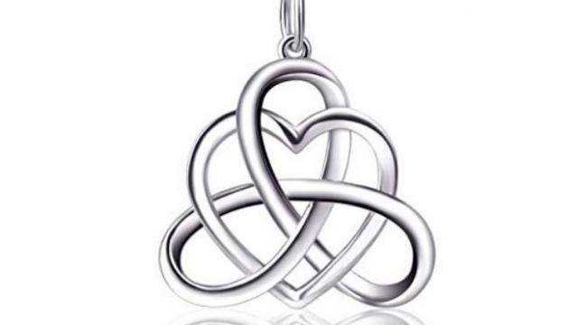 30d12c8b7 Sterling Silver Good Luck Vintage Irish Celtic Triquetra Knot Heart Pendant  Necklace (photo courtesy Amazon