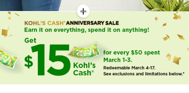 7331ab9d502d HOT Kohl's offers: 30% coupon + $15 Kohl's Cash + $10 men's & intimates  coupons! :: WRAL.com