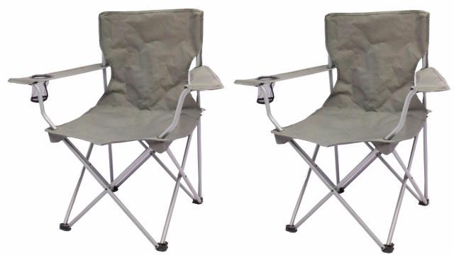 Ozark Trail Quad Folding C& Chair 2 Pack (photo courtesy Walmart)  sc 1 st  WRAL.com & Ozark Trail Quad Folding Camp Chair 2 Pack only $12.95 ($6.47 per ...