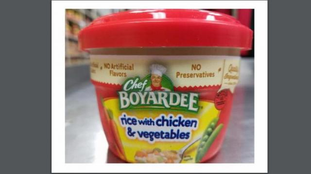 Recall: Chef BOYARDEE rice with chicken & vegetables :: WRAL com