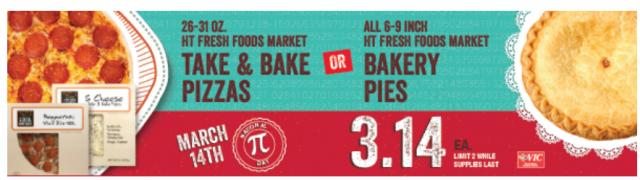 Harris Teeter Pi Day Offer 2019