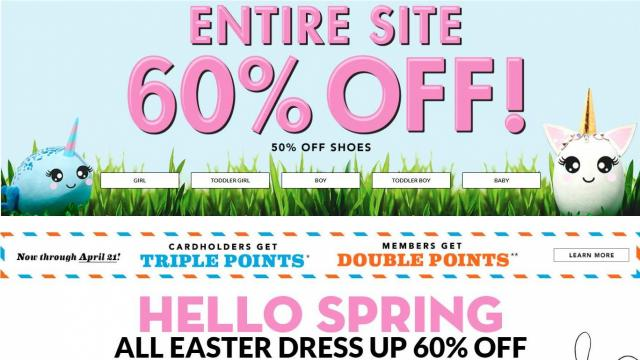 image regarding Childrens Place Printable Coupon identified as The Childrens Desired destination: 60% off finish retail outlet + Absolutely free transport