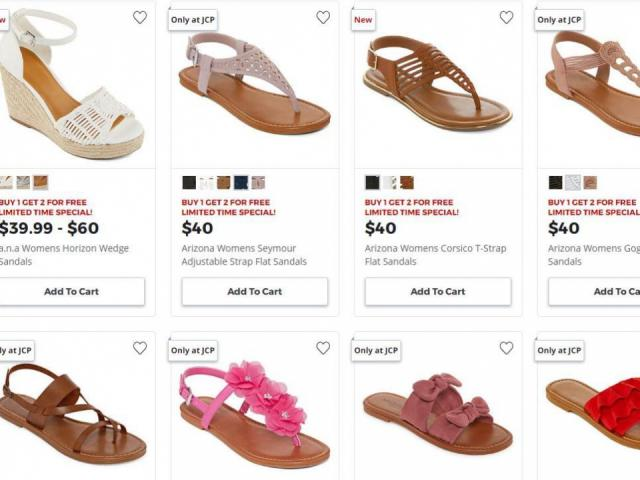 ab83e574777 HOT Women s Sandals deal at JCPenney  Buy 1 Get 2 FREE through Wednesday     WRAL.com