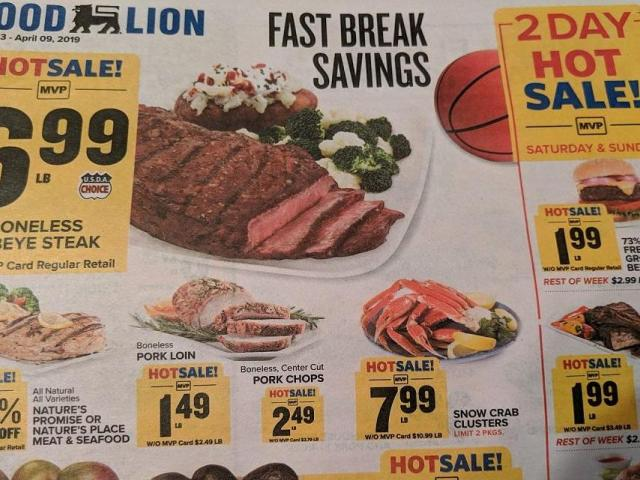 Food Lion 2 Day Sale Through Sunday Ground Beef Pork Ribs Chicken Wings Franks WRAL