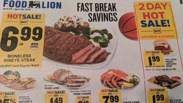 photo relating to Food Lion Printable Coupons called Food stuff Lion 2-Working day sale for the duration of Sunday: Floor beef, pork ribs