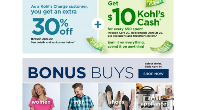 Awe Inspiring Kohls New 30 Off Coupon 10 Kohls Cash 10 Off Home Home Interior And Landscaping Dextoversignezvosmurscom