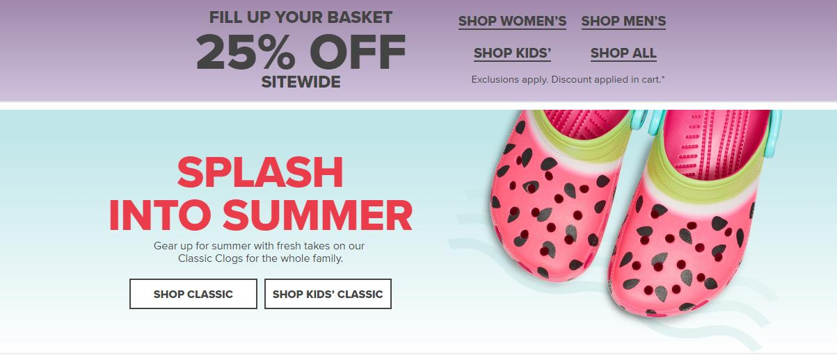 Crocs Shoes: 2 for $35 with free