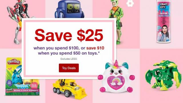 12202af3a9bf Target Toys   Games coupon   10 off  50 or  25 off  100 purchase ...