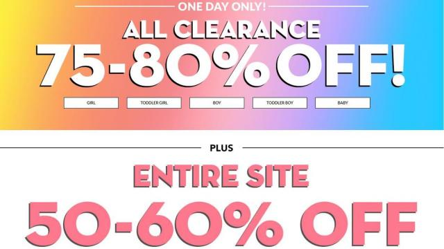 7a650630b8 The Children's Place: 75-80% all clearance + 50-60% off entire store ...