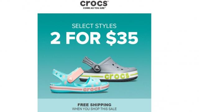 6c1728fed Crocs Shoes  2 for  35 with free shipping    WRAL.com