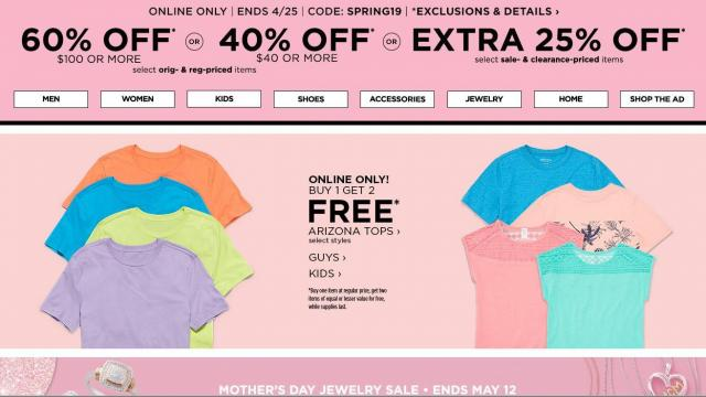 7e22912fad08a JCPenney  Buy 1 Get 2 FREE Arizona shirts for kids and men    WRAL.com