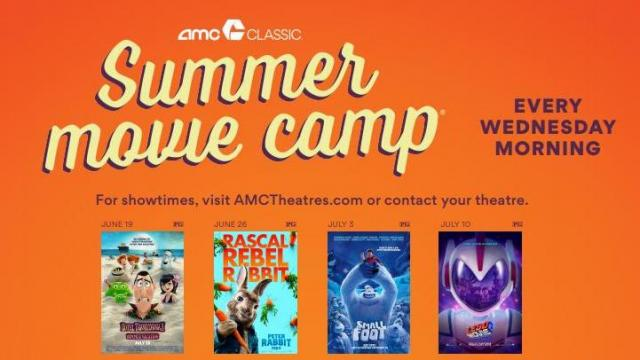 photo about Amc Printable Coupons identified as AMC Theaters promoting $4 summer time youngsters video package with treats