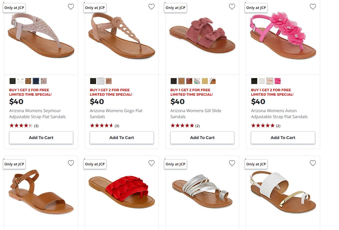 a522ef2e826 HOT Women's Sandals deal at JCPenney: Buy 1 Get 2 FREE through ...